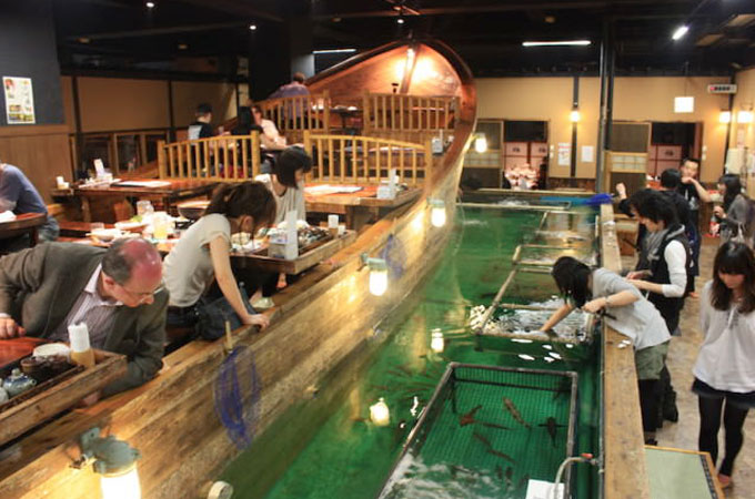 Zauo restaurant – a real fishing restaurant!